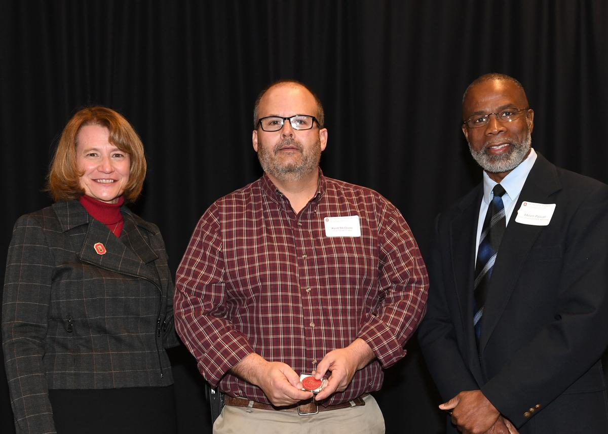 (Left to Right) Dean Cathann Kress, Kent McGuire, and Melvin Pascall, Faculty Advisory Council officer.